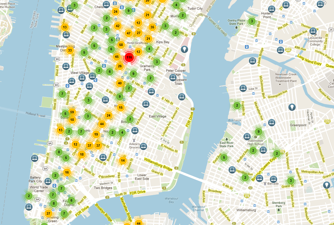 A Map Of NYC's Booming Startup Scene