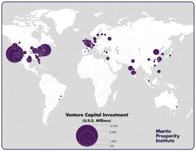 The world's leading centers for venture capital investment