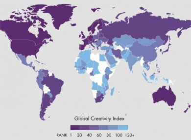 2015-Global-Creativity-Index-Map